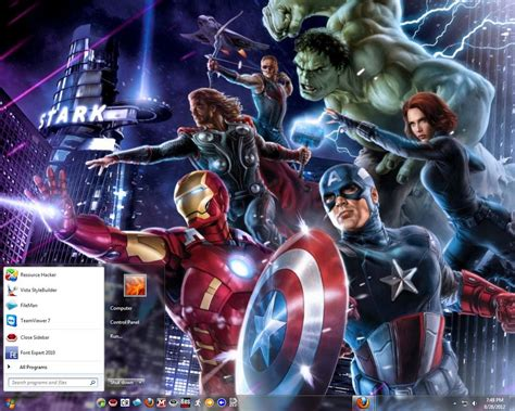 theme for windows 7 avengers win7 the avengers theme by dasgingerbreadman on deviantart