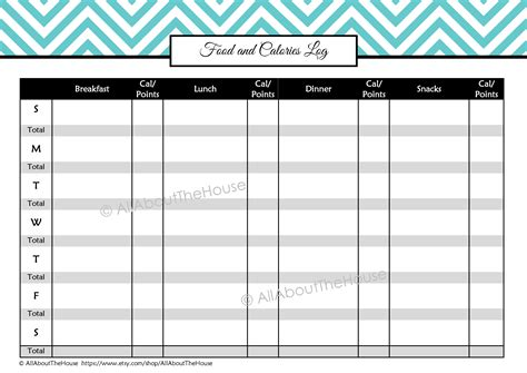 nutrition spreadsheet template 6 best images of printable food log calories daily
