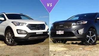 Kia Santa Fe Review Hyundai Santa Fe Vs Kia Sorento Review Carsguide