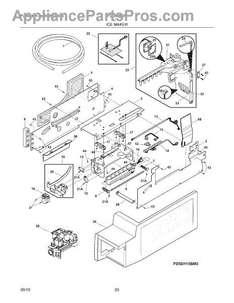 frigidaire maker diagram parts for frigidaire fgub2642lf1 maker parts