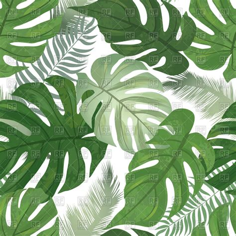 leaf pattern artwork tropical leaves background palm tree leaf seamless