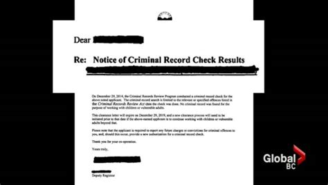 Criminal Record Search Bc Questions Remain About How With Criminal Records Were Hired To Work With At