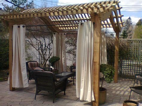 Outdoor Curtains For Pergola Best 25 Pergola Curtains Ideas On Pinterest Pergola With Curtains Pergola Lighting And Porch