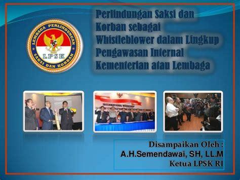 Viktimologi Perlindungan Hukum Terhadap Korban Kejahatan perlindungan saksi korban sebagai whistleblower