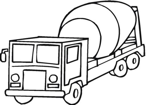 cement mixer coloring page free printable coloring pages
