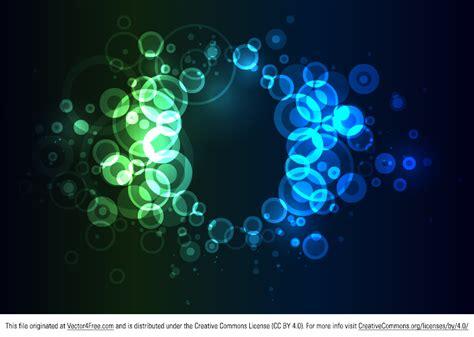 neon circles background free vector art
