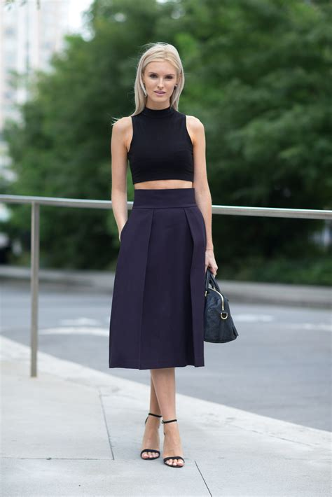 Crop Skirt 10 ways to style a midi skirt chictrends