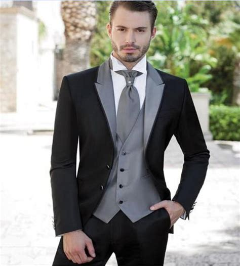 2017 two buttons slim fit best man suits for