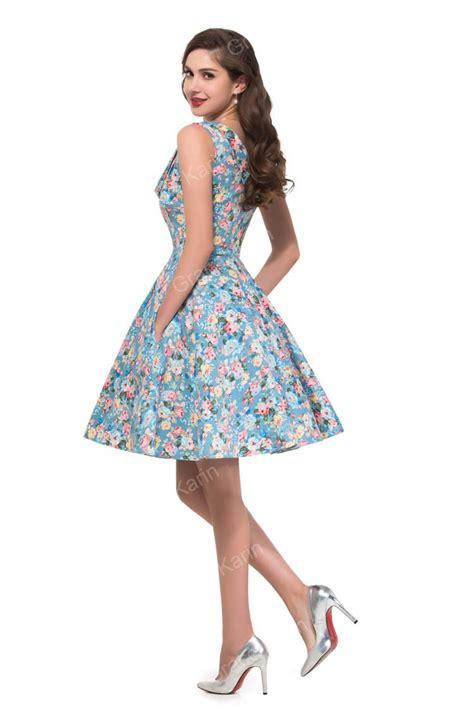 Country Desigual 50s Women Summer Dress Sleeveless Vintage Dresses Knee Length Casual Flower