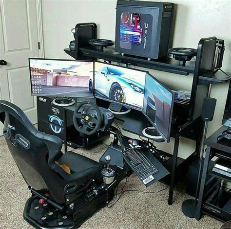 gaming setup simulator racing simulator diy setup racing simulators pinterest
