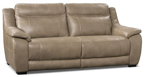 the brick couches novo leather look fabric sofa taupe the brick