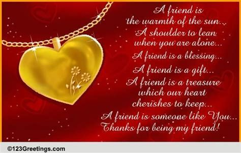 A Treasured Friend! Free Quotes & Poetry eCards, Greeting