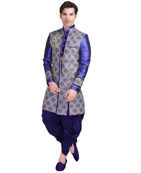buy stunning blue indo western aprl3100 at 286 88