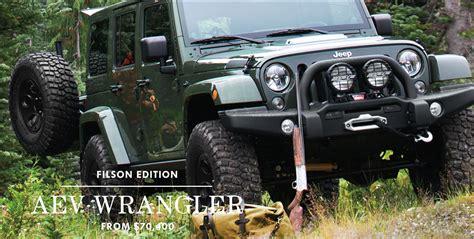 jeep brute filson filson x aev wrangler the awesomer
