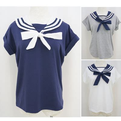 Bow Sailor Collar Sleeve Top all products 183 spreepicky 183 store powered by storenvy