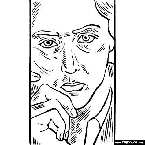 Self Portrait Coloring Page Fablesfromthefriends Com Self Portrait Coloring Page