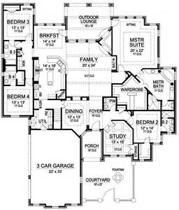luxury house plans one story plan 36226tx one story luxury with bonus room above