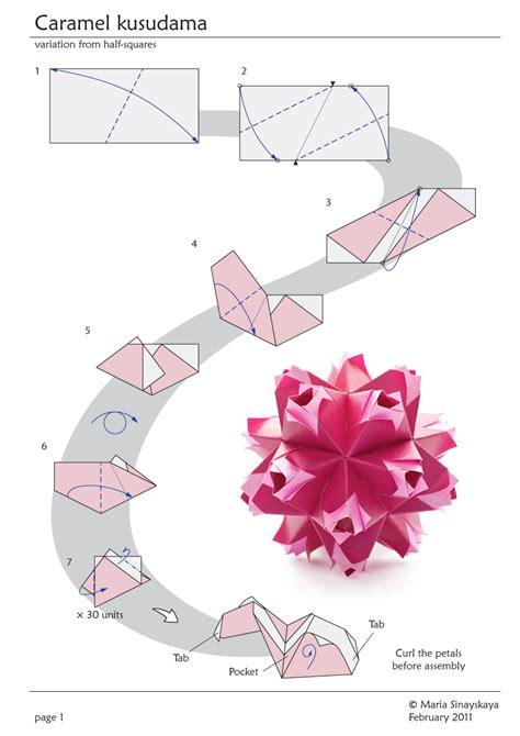 Origami Kusudama Diagrams - caramel kusudama by sinayskaya diagram go origami