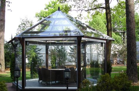 Add Drama To Your Outdoor With Stained Glass Gazebo