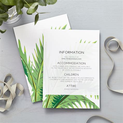 Wedding Information by Tropical Collection Says I Do