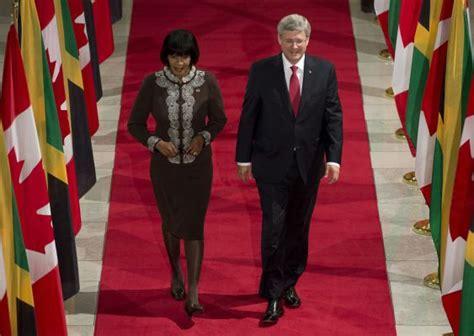 stephen miller jamaica jamaican prime minister portia simpson miller and canadian