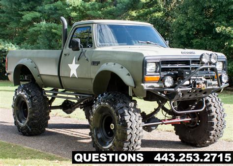 monster truck videos in mud 1989 dodge ram 2500 mud truck monster truck for sale