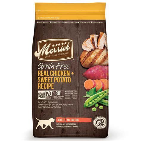 merrick grain  real chicken sweet potato dry dog