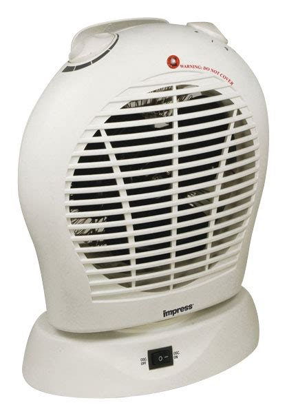 kenmore oscillating compact fan heater impress portable oscillating fan heater white 91578955m