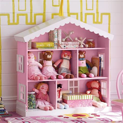 pink and white dollhouse bookcase dollhouse bookcase company kids stella s room