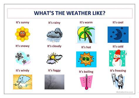 printable weather poster weather poster worksheet free esl printable worksheets