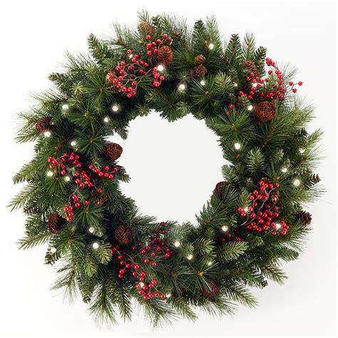 pre lit cordless christmas wreaths