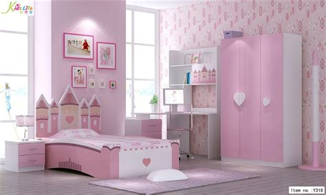 Children Bedroom Furniture Set with China Pink Castle Bedroom Furniture Sets Y318 China