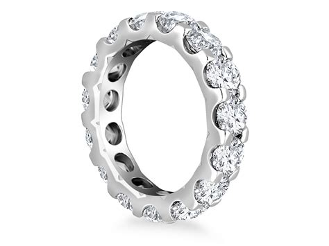 adorned eternity ring in 14k white gold