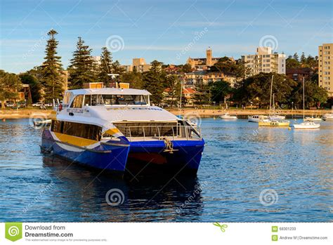 fast boat sydney manly fast ferry boat in sydney editorial stock photo