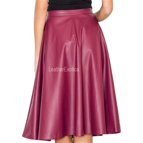 special flared leather skirt for