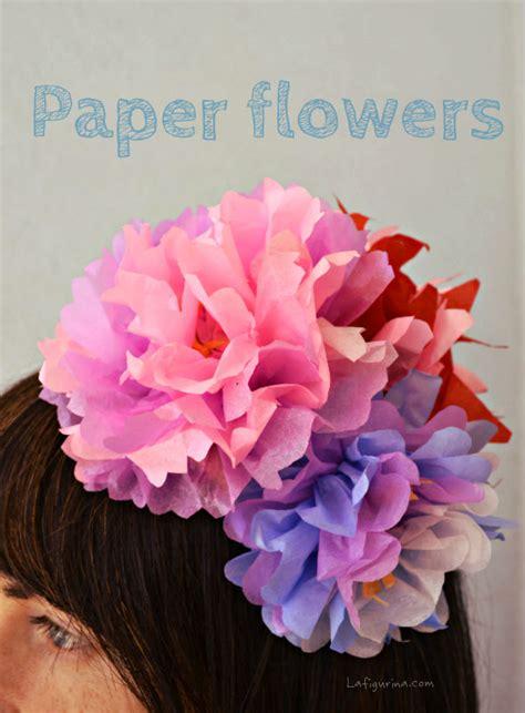 lade fai da te carta come realizzare fiori di carta come fare degli addobbi