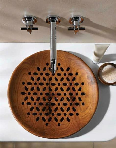Waschbecken Auf Holz by 30 Beispiele F 252 R Au 223 Ergew 246 Nliches Waschbecken Design