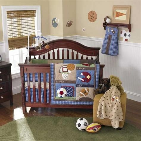 Football Crib Bedding Set Blue Sports Baby Boy Football Baseball Discounted 11p Bundle Nursery Bedding Set Ebay Baby