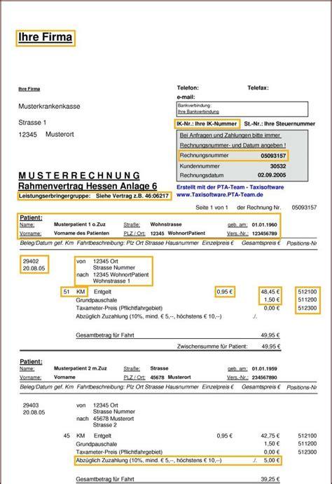 Muster Briefkopf Rechnung Musterrechnung Anlage 6 Rahmenvertrag In Hessen
