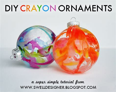 diy ornaments crayon diy crayon drip ornaments craft