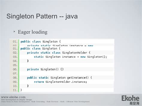 net singleton pattern design pattern from java to ruby