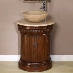 cabinets for vessel sinks 24 inch small vessel sink vanity in brown finish