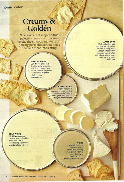 cream  golden bhg paint color palettes paint