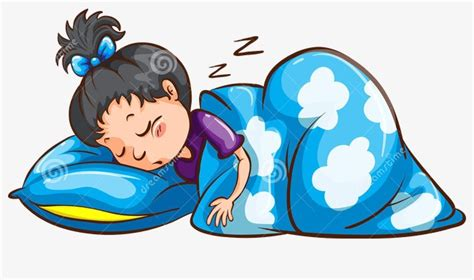 bett clipart sleeping blue quilt sleep soundly snore png image