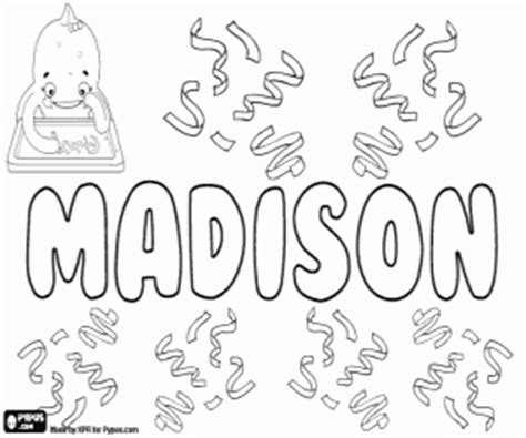 coloring pages with the name madison girl names with m coloring pages printable games
