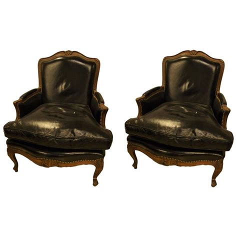 bergere chair pair of berg 232 re or lounge chairs in louis xv style attributed to maison jansen for sale at 1stdibs