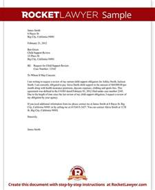 Child Support Letter Of Agreement Template Child Support Review Letter Request Review With Sample
