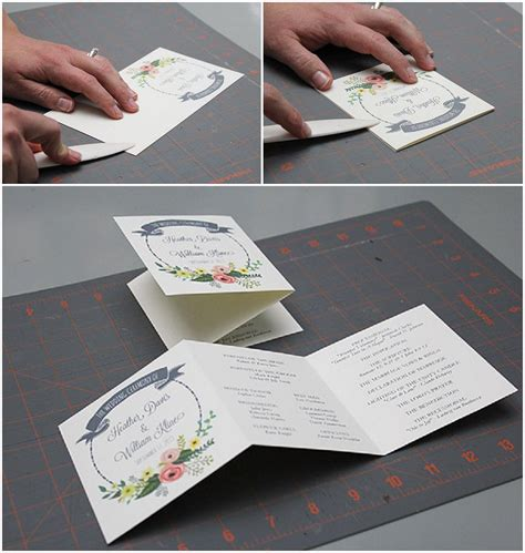 layout of mass booklet diy tutorial free printable ceremony booklet boho