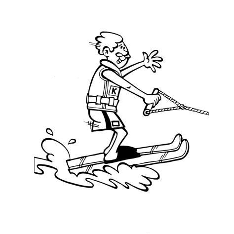 Coloriage Ski Nautique A Imprimer Gratuit Coloriage Gratuit Rugby Sport L