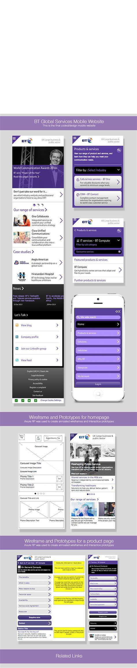 bt mobile service bt global services mobile website on behance